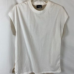 ARITZIA Wilfred Free white topic with mesh back